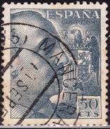 1949 1053 FRANCO DENTADO FINO USADO MANCERA DE ABAJO SALAMANCA RRR SPAIN SPANIEN ESPAGNE SPANJE - 1931-Today: 2nd Rep - ... Juan Carlos I