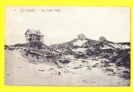 * De Panne - La Panne (Kust - Littoral) * (Th. Van Den Heuvel, Nr 18) Les Trois Villas Dans Les Dunes, Duinen, TOP, Rare - De Panne
