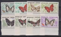 Central African Republic  CAR, Butterflies, 1960, 8 Stamps - Farfalle