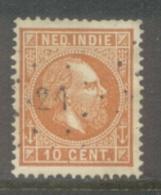 Nvph 9 Met Puntstempel 21 - Niederländisch-Indien