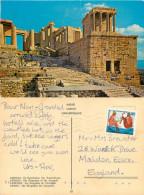 Propylaea,  Athens, Greece Postcard Posted 1987 Stamp - Grèce
