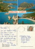 Corfu, Greece Postcard Posted 1987 Stamp - Grèce