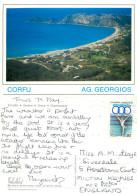 Agios Georgios,  Corfu, Greece Postcard Posted 1992 Stamp - Grèce
