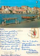 Chania,  Crete, Greece Postcard Posted 1974 Stamp - Grecia