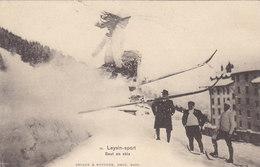 Leysin - Saut En Ski - Belle Animation - 1908       (P12-10528) - VD Vaud