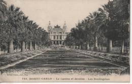 CPA - MONTE CARLO - LE CASINO ET JARDINS - LES BOULINGRUNS - 788 - GILETTA - T. B. E - Monte-Carlo