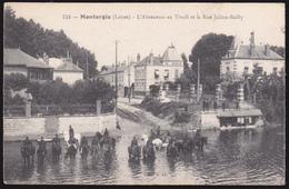 Montargis, L' Abreuvoir Au Tivoli Et Rue Julien Bailly (00365) - Montargis