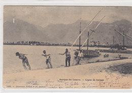 Barque Du Léman - Ligne De Halage - 1904     (P12-10528) - VD Vaud