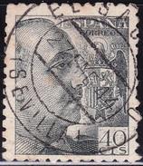 1940 925 FRANCO DENTADO GRUESO USADO EL SUCEJO SEVILLA RRR SPAIN SPANIEN ESPAGNE SPANJE - 1931-Today: 2nd Rep - ... Juan Carlos I