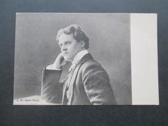 AK / Portrait 1910er Jahre. I. W. Otto Voss. Künstler / Musiker?? Bekannte Person! - Celebrità