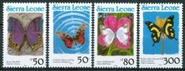 1991 Sierra Leone Farfalle Butterflies Schemetterlinge  Papillons Yv.1330/33Set MNH** Sie84 - Sierra Leone (1961-...)