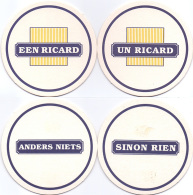 #D128-018 Twee Viltjes Ricard - Sous-bocks