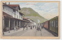 Airolo - Stazione Con Treno Del Gottardo - Bella Animazione - 1915     (P12-20202) - TI Ticino