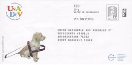 A VOIR ///// PAP REPONSE CIAPPA : UNION NATIONALE DES AVEUGLES .VERSO VIERGE ( 3 Photos) - Entiers Postaux