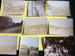 8 Photos 10x8 Cm & 1 Photo 13x12 Cm - Petite Déchirure , Fin 19°/début 20° - Photographs
