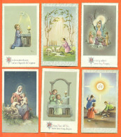Lot De 6 Images Pieuses Dont Toutes Citées - Devotion Images