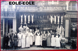 83 - Carte Photo - TOULON - Boucherie - Maison ALBRAND - Devanture - Place Victor HUGO - Rue Nationale - Toulon