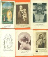 Lot De 6 Images Pieuses Diverses - Devotion Images