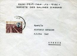 15500 Ethiopia, Circuled Cover 1967 To Asmara - Ethiopie