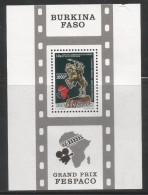 1991 Burkina Faso African Fim Festival Cinema  Souvenir Sheet Complete Set Of 1 MNH - Burkina Faso (1984-...)