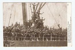 GUERRE EUROPÉENNE 1914 TROUPES ANGLAISES ARRIVANT EN FRANCE - ÉDITION PATRIOTIQUE - NON CIRCULÉE - 2 Scans - Guerra 1914-18