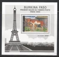 1994 Burkina Faso Dogs  Chiens Complete Set Of 1 Stamp & Souvenir Sheet MNH - Burkina Faso (1984-...)