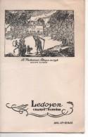 MENU  DU RESTAURANT LEDOYEN CHAMPS-ELYSEES - DINER Du 29 AVRIL 1957 -  75 PARIS - Menus