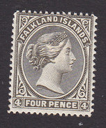 Falkland Islands, Scott #8, Mint Hinged, Queen Victoria, Issued 1886 - Falkland Islands