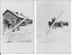 1915-1916 Croix Rouge Rote Kreuz Colonne De Santé Allemande Voitures Et Officiers 2 Cartes Photo 1914-1918 14-18 Ww1 Wk1 - War, Military