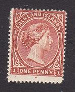 Falkland Islands, Scott #11, Mint Hinged, Queen Victoria, Issued 1891 - Falkland Islands