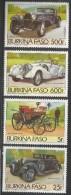 1985 Burkina Faso  Automobiles Benz Bugatti Complete Set Of 4 Stamps MNH - Burkina Faso (1984-...)