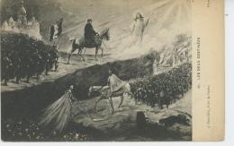 """GUERRE 1914-18 - Jolie Carte Fantaisie """"Les Deux Destinées"""" ( GUILLAUME II Et Le Spectre De La Mort Et Les Français Vers - War 1914-18"""