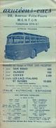 Autocar Pullman/Azuréens-cars/MENTON/Excursions/Carte Et Prix/Services Réguliers Au Départ De Nice/Vers 1945-1950 AC131 - Transport