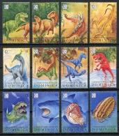 Dominica, 1995, Prehistoric Animals, Dinosaurs, Shark, MNH, Michel 2024-2035 - Dominique (1978-...)