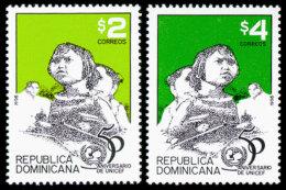 Dominican Republic, 1996, UNICEF 50th Anniversary, Children, United Nations, MNH, Michel 1790-1791 - Dominican Republic