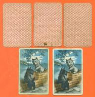 Lot De 5 Cartes à Jouer Dont 2 Avec Chiens Scottish Terrier - 2 Scans - Carte Da Gioco