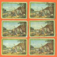 Lot De 6 Cartes à Jouer Paysage Campagnard - 2 Scans - Carte Da Gioco