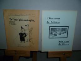 Banquet Des Internes. Hopital Des Anglais Liège. 7 Brochures Illustrées. 1952 - 1958 - Culture