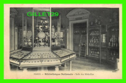 PARIS (75) - BIBLIOTHÈQUE NATIONALE - SALLE DES MÉDAILLES - AKR - CIRCULÉE EN 1911 - - Other Monuments