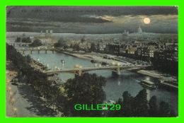 PARIS (75) - VUE SUR LA SEINE, PRISE DU PAVILLON DE FLORE LA NUIT - LL. - CIRCULÉE EN 1907 - - Paris By Night