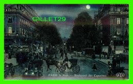 PARIS (75) - BOULEVARD DES CAPUCINES ANIMÉE, LA NUIT - E.L.D. - ANIMÉ EN CLOSE UP - - Paris By Night