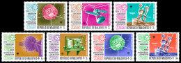 Maldive Islands, 1973, WMO Centenary, World Meteorological Organization, United Nations, MNH, Michel 479-485 - Maldives (1965-...)