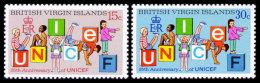 Virgin Islands, 1971, UNICEF 25th Anniversary, Children, United Nations, MNH, Michel 229-230 - Iles Vièrges Britanniques