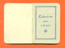 "Mini Calendrier 1935 "" Librairie Papeterie Mlles Davin à Gap ( Hautes Alpes ) 55mm X 37mm"" 3 Scans - Small : 1921-40"