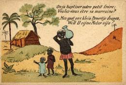 ON VA BAPTISER NOTRE PETIT FRERE: VOULEZ-VOUS ETRE SA MARRAINE? - Congo Belga - Otros