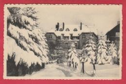 Elsenborn - Hôtel Borgs ... Sous La Neige / Onder Sneeuw - 1957 ( Voir Verso ) - Butgenbach - Buetgenbach