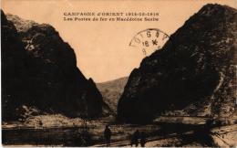 CAMPAGNE 'ORIENT ,PORTES DE FER EN MACEDOINE SERBE ,PERSONNAGES  REF 49667 - Serbia