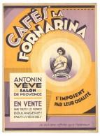 Carton Pub Cafés La Fornarina, Antonin Sève, Salon De Provence - Plaques En Carton