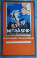 Carton Pub Mitraspir, Aspirateur Pour Cheminées, Nantes, Signé Léion Dupin - Plaques En Carton