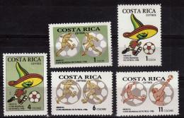 COSTA RICA     N° 452/56   * *  ( Cote 8.50e )  Cup 1986   Football Fussball  Soccer - 1986 – Messico